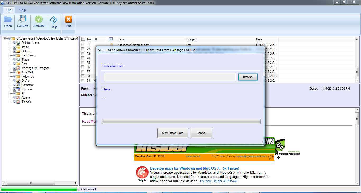 ATS PST to MBOX Converter Software