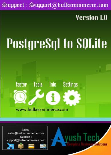 PostgreSql to SQLite
