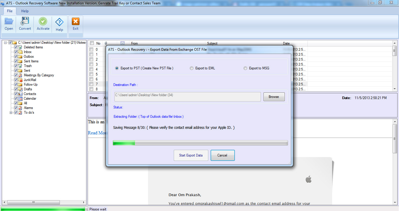 ATS Outlook Recovery Software