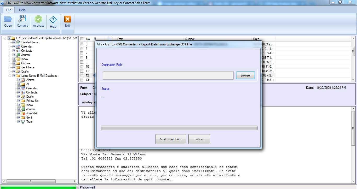 ATS OST to EML Converter Software