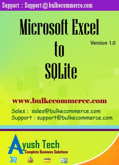 Microsoft Excel to SQLite
