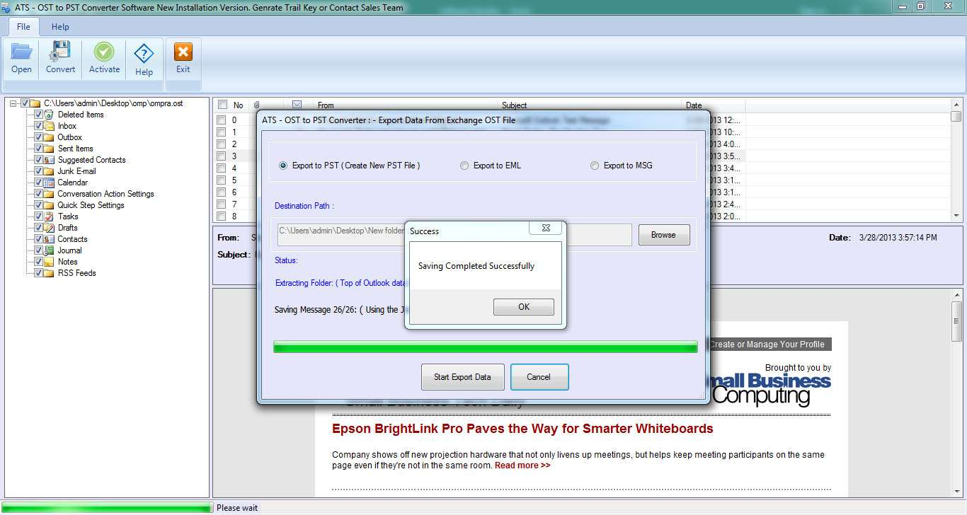 ATS OST to PST Converter Software
