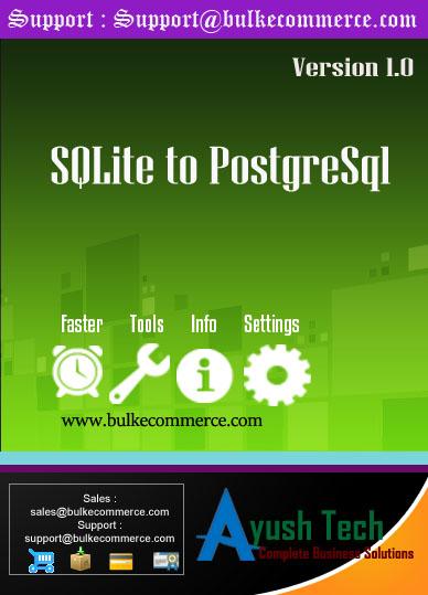SQLite to PostgreSql