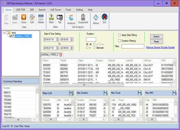 ATS Call Data Record analyzer