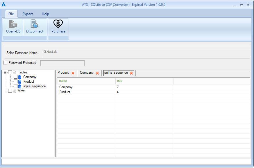 ATS SQLite to CSV Converter
