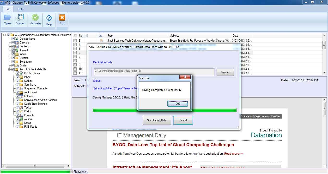ATS PST to EML Converter Software