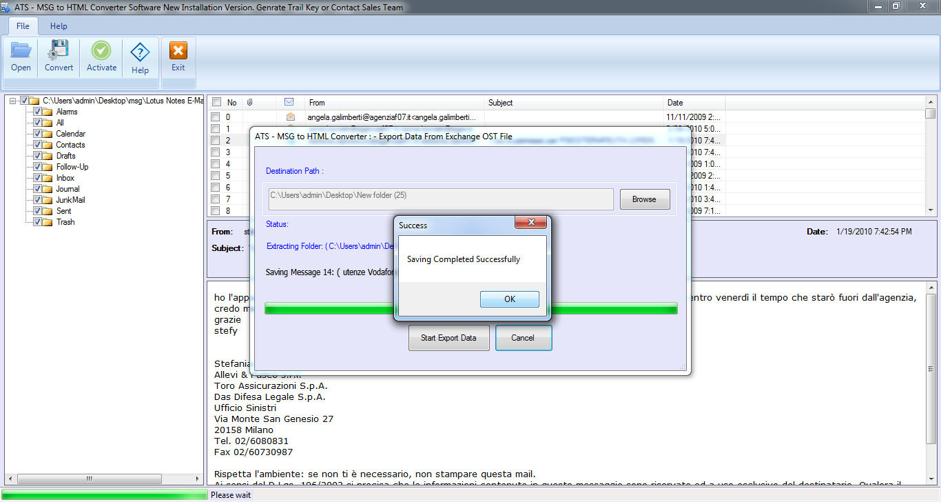 ATS MSG to HTML Converter